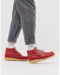 Kickers Kick Hi Boots In Red Leather