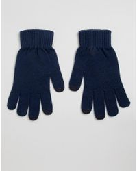 ASOS - Touch Screen Gloves In Recycled Polyester - Lyst