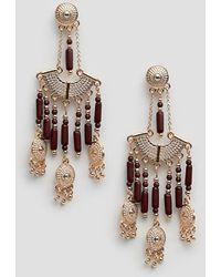 Steve Madden - Dangling Beaded Chandelier Earrings - Lyst