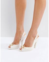 Melissa + Vivienne Westwood Anglomania - Lady Dragon Nude Orb Heeled Shoes - Lyst