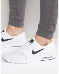 purchase cheap f0fce 32007 Nike - Stefan Janoski Max Trainers In White 631303-100 - Lyst