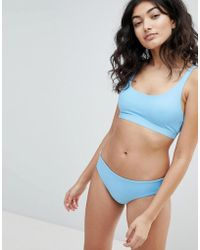 Weekday - Bikini Bottom In Blue - Lyst