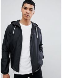 Solid - Showerproof Lightweight Hooded Jacket - Lyst