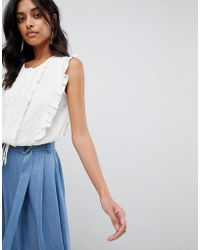 Moon River - Frill Detail Shell Top - Lyst