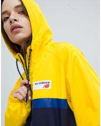 New Balance - Colourblock Windbreaker Jacket In Yellow - Lyst