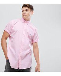 Polo Ralph Lauren - Big & Tall Short Sleeve Garment Dyed Shirt Player Logo In Pink - Lyst