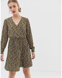 ONLY - Wrap Floral Dress - Lyst