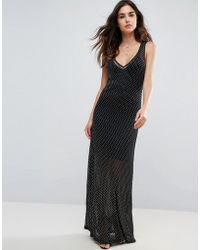 Wyldr - Celeste Sands Mesh Maxi Dress With Seperate Slip - Lyst