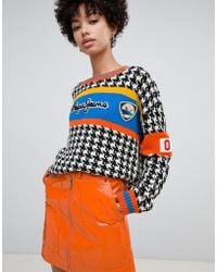 Pepe Jeans - Houndstooth Knit With Logo - Lyst