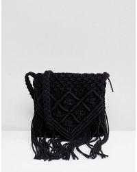 Park Lane - Handmade Macrame Crossbody Bag - Lyst