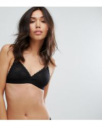 6cef9f62d5 New Look Rose Embroidered Bralet in Black - Lyst