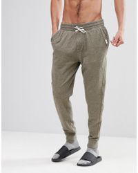Abercrombie & Fitch - Lounge Cuffed Joggers In Heather Olive - Lyst