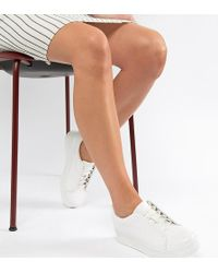 Truffle Collection - Clean Lace Up Trainers - Lyst
