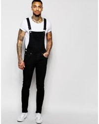 Dr. Denim - Ira Skinny Dungaree Jeans In Black - Lyst