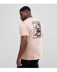 ASOS - Plus Relaxed T-shirt In Pink With Text Back Print - Lyst