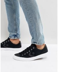 Converse - Ox Star Player Plimsolls In Black 157761c - Lyst