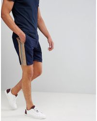 ASOS - Design Drapey Slim Mid Smart Short With Side Stripe - Lyst