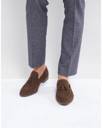 New Look - Faux Suede Tassel Loafer In Dark Brown - Lyst