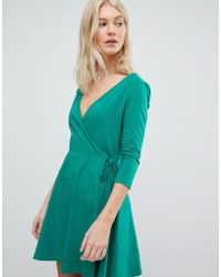 Vero Moda - Jersey Wrap Dress - Lyst