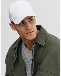 ASOS - Cappellino bianco di tela - Lyst