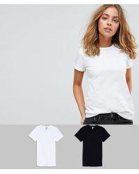 ASOS - Asos Design Petite Ultimate Crew Neck T-shirt 2 Pack Save 15% - Lyst
