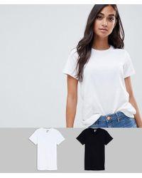 ASOS - Asos Design Petite Ultimate Crew Neck T-shirt 2 Pack Save - Lyst