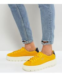 PUMA - Platform Trace Trainers In Yellow - Lyst