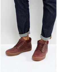 Timberland - Adventure Cupsole Grain Leather Gum Sole Chukka Boots - Lyst