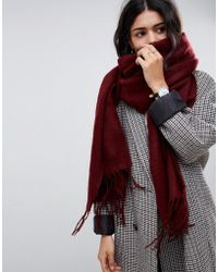 ASOS Supersoft Long Woven Scarf With Tassels - Red