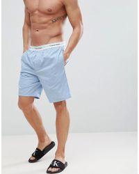 CALVIN KLEIN 205W39NYC - Modern Cotton Woven Lounge Shorts - Lyst