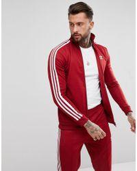 adidas Originals - Adicolor Beckenbauer Track Jacket In Burgundy Cw1251 - Lyst