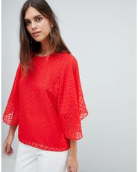 Y.A.S - Textured Top With Exagerated Sleeve - Lyst