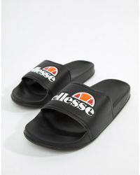Ellesse - Sliders With Large Logo In Black - Lyst