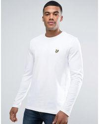Lyle & Scott - Logo Long Sleeve Top In White - Lyst