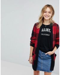 Hollister - Check Knit Cardigan - Lyst