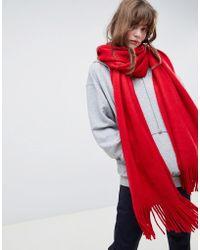 ASOS - Superzachte Lange Sjaal Met Franjes - Lyst