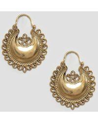 Sam Ubhi - Vintage Style Hoop Earrings - Gold - Lyst