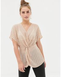 New Look - Embellished Blouse - Lyst