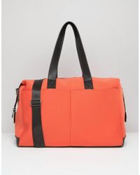 ASOS - Asso Lifestyle Double Pocket Scuba Carryall - Lyst