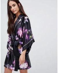 Ted Baker - Sunlit Floral Kimono Robe - Lyst