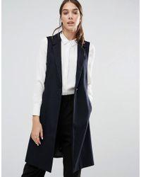 Closet - Closet Wool Sleevless Jacket - Lyst