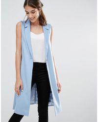 Closet - Closet Long Line Sleeveless Blazer - Lyst