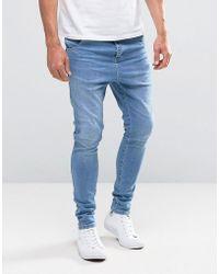 Illusive London - Hareem Super Skinny Jeans In Blue - Lyst