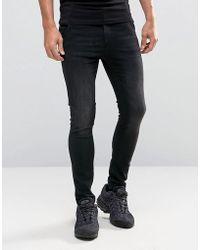 Illusive London - Super Skinny Jeans In Black - Lyst