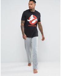 ASOS - Loungewear Halloween Pyjama Bottoms With Ghostbuster Print - Lyst