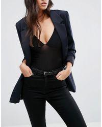 Vero Moda - Leather Waist Belt - Black - Lyst