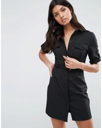 Madam Rage - Utility Shirt Dress - Lyst