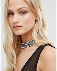 New Look - Chain Collar - Silver - Lyst