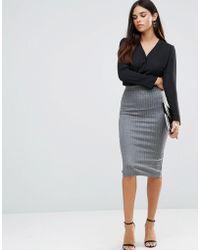 TFNC London - Striped Pencil Skirt - Lyst