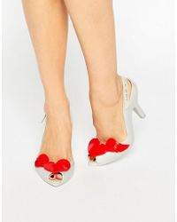 Melissa + Vivienne Westwood Anglomania - Lady Dragon Pearl Red Cherub Sling Heeled Sandals - Lyst